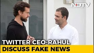 Twitter CEO Jack Dorsey, Rahul Gandhi Meet To Discuss Fake News - NDTV