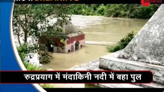 Morning Breaking: Uttarakhand's Mandakini river flows close to danger mark - ZEENEWS