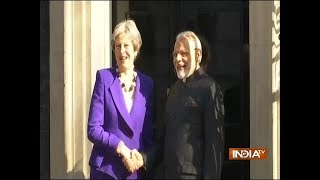 PM Modi meets British Prime Minister Theresa May at 10 Downing Street in London - INDIATV