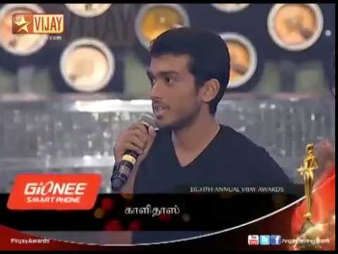 Vijay Awards   Actor Kalidas Jayaram's performance (HD)