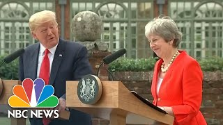 President Trump Says Relationship With PM Theresa May 'The Highest Level Of Special' | NBC News - NBCNEWS
