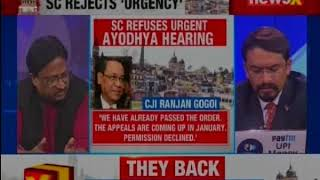 Ayodhya case: SC refuses urgent hearing in Ram Janmabhoomi-Babri Masjid title suit || Nation 9 || - NEWSXLIVE