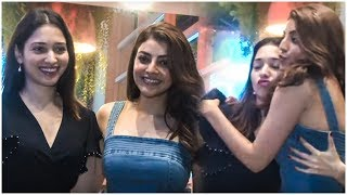 GORGEOUS Actresses Tamanna Bhatia & Kajal Aggarwal Spotted At Funqin At Juhu - RAJSHRITELUGU