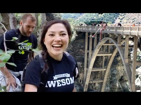 Bungee Jumping at the Bridge to Nowhere | PEOPLE ARE AWESOME 2017