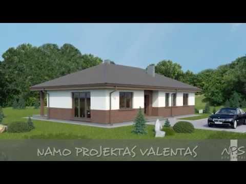 Vieno aukšto namo projektas Valentas   NPS projektai - namų projektavimas, statyba