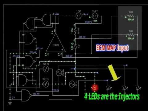 MAP Sensor ECU Signal Circuit