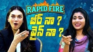 Hilarious Rapid fire with Antariksham actress Aditi Rao Hydari | Indiaglitz Telugu - IGTELUGU