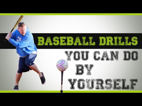 3 Baseball Drills you can do by Yourself