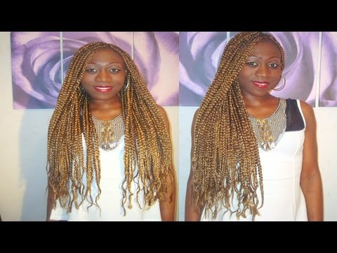TUTORIAL:TRANÇAS LOIRO MEL /BLOND BOX BRAIDS 2014