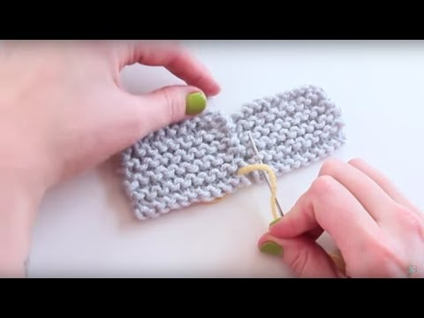 Knitting 101: How to Join Knitting with the Mattress Stitch