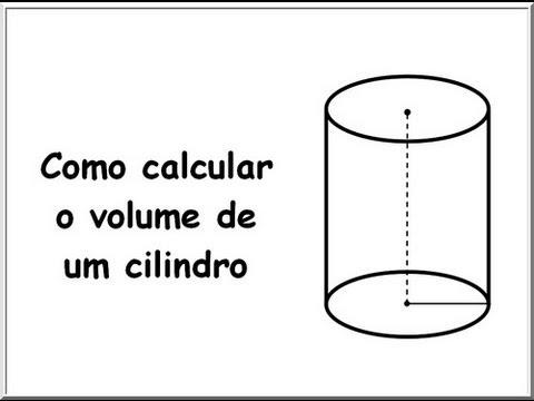 Como calcular o volume de um cilindro