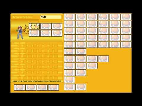 Pokemon Ash Trainer Card Full (Kanto - Kalos)