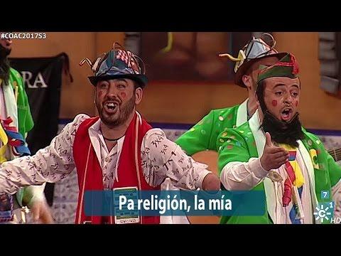Sesión de Semifinales, la agrupación Pa religión la mía actúa hoy en la modalidad de Chirigotas.