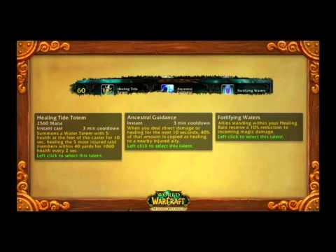 Blizzcon 2011 Talents Preview Shaman (Part 9)