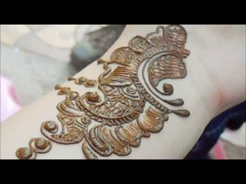 Best Mehendi Application Video 2013-Arabic Bridal Full Hand Henna Mehndi Art Tutorial