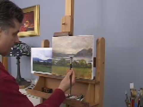 OIL PAINTING DEMONSTRATIONS - IRISH LANDSCAPE PAINTING BY HALL GROAT II