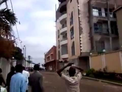 Falling Apartment Building in Kinshasa, D.R. Congo