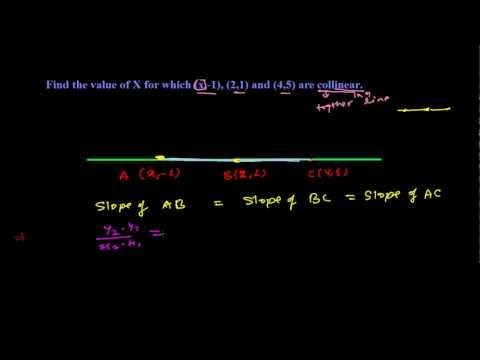 Collinear Points Based on Slope of Line