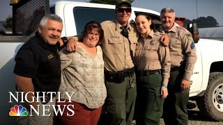 Colorblind Deputy Sees Color For First Time | NBC Nightly News - NBCNEWS