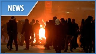 Greece: petrol bombs, fireworks and explosions as Athens becomes a war zone - THESUNNEWSPAPER