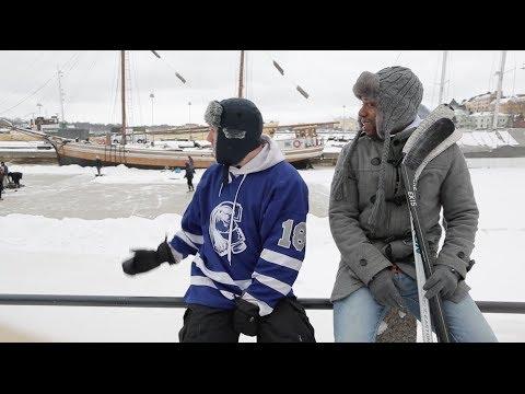 Helsinki, Finland Travel Video Diary Hockeytutorial - Pond Hockey Trip Helsinki