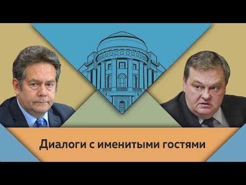 Н.Н.Платошкин и Е.Ю.Спицын в студии МПГУ.