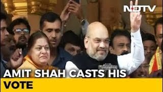 Gujarat Election: Amit Shah Casts His Vote - NDTV