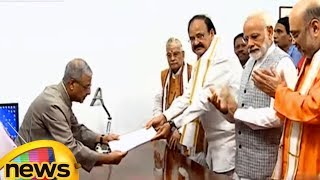 Venkaiah Naidu Files Nomination Papers for Vice President | Mango News - MANGONEWS