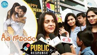 Geetha Govindam Movie Public Response || Vijay Devarakonda || Rashmika - IDREAMMOVIES