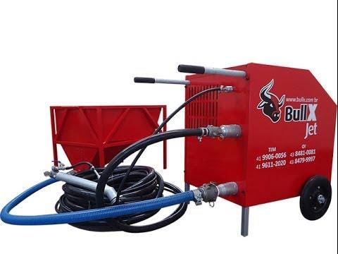 BullX JET: a máquina de reboco. Projetora de massas, reboco, chapisco, gesso, etc.