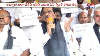 AP Dy CM KE Krishna Murthy Deeksha at Kurnool TDP Party Office | CVR News - CVRNEWSOFFICIAL