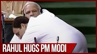 No-Confidence motion: PM Modi mocks Rahul Gandhi's bear hug in Lok Sabha - ZEENEWS