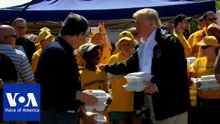 Trump Delivers Warm Meals to Storm Victims in North Carolina - VOAVIDEO