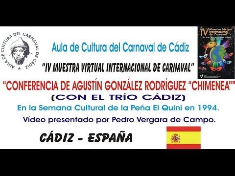 IV MUESTRA VIRTUAL - CONFERENCIA DE AGUSTÍN GONZÁLEZ