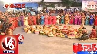 T Congress demands to invite Sonia Gandhi for Bathukamma festival - Teenmaar News - V6NEWSTELUGU