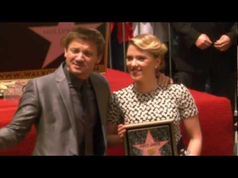 Scarlett Johansson & Jeremy Renner Walk of Fame Ceremony