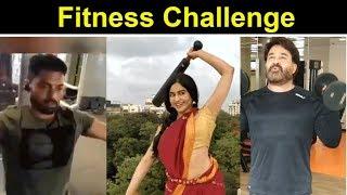 Fitness Challenge Of Tollywood Celebrities | HumFitTohIndiaFit | Mohanlal | Kalyan Ram | Adha Sharma - RAJSHRITELUGU