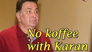 Karan Johar clarifies rumours of Rishi Kapoor being upset with him