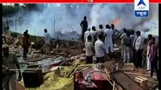 Fire in Delhi's Shastri Park l Nearly 50 huts burned down - ABPNEWSTV