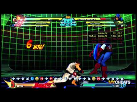 Marvel vs Capcom 3 Ryu 900K Damage Combo Strategy Video