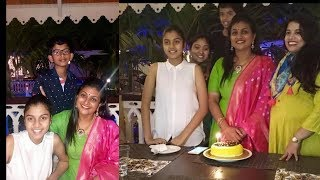 Actress Roja Selvamani Birthday Celebrations With Family Members Latest Photos 2018 - RAJSHRITELUGU