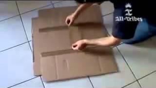 طريقة سهلة لصنع آلة يدوية من الكرتون لترتيب الملابس