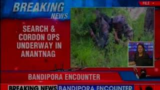 Ongoing encounter in Bandipora district; 2 terrorists gunned down - NEWSXLIVE