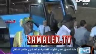 بالفيديو.. اشتباكات بين الصحفيين وبعثة السنغال بعد اقتحام «كلب حراسة» للملعب | المصري اليوم