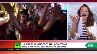 Changing its tune: UK press admits England fans received warm welcome in Russia - RUSSIATODAY