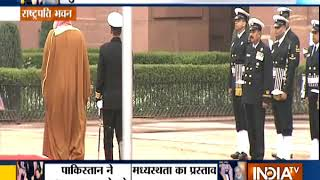 Saudi Arabia Crown Prince receives a ceremonial reception at the Rashtrapati Bhawan - INDIATV