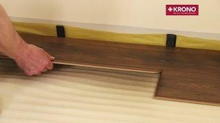 Укладка ламината. Пошаговая видео инструкция.