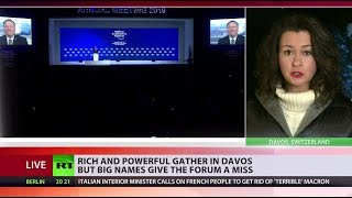 Rich & powerful gather in Davos but some big names are missing - RUSSIATODAY
