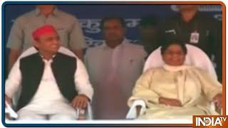 आज मैनपुरी में दिखेगा मायावती-मुलायम सिंह का सियासी मिलन - INDIATV