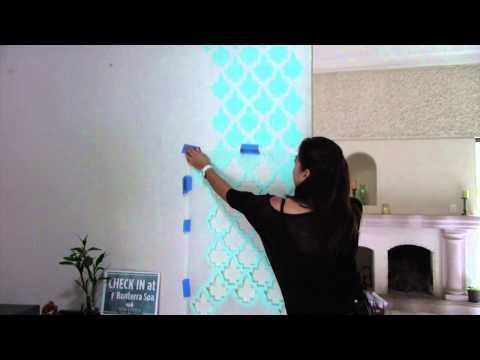 Cómo Pintar una Pared de Textura Gruesa con SD Stencils Decorativos